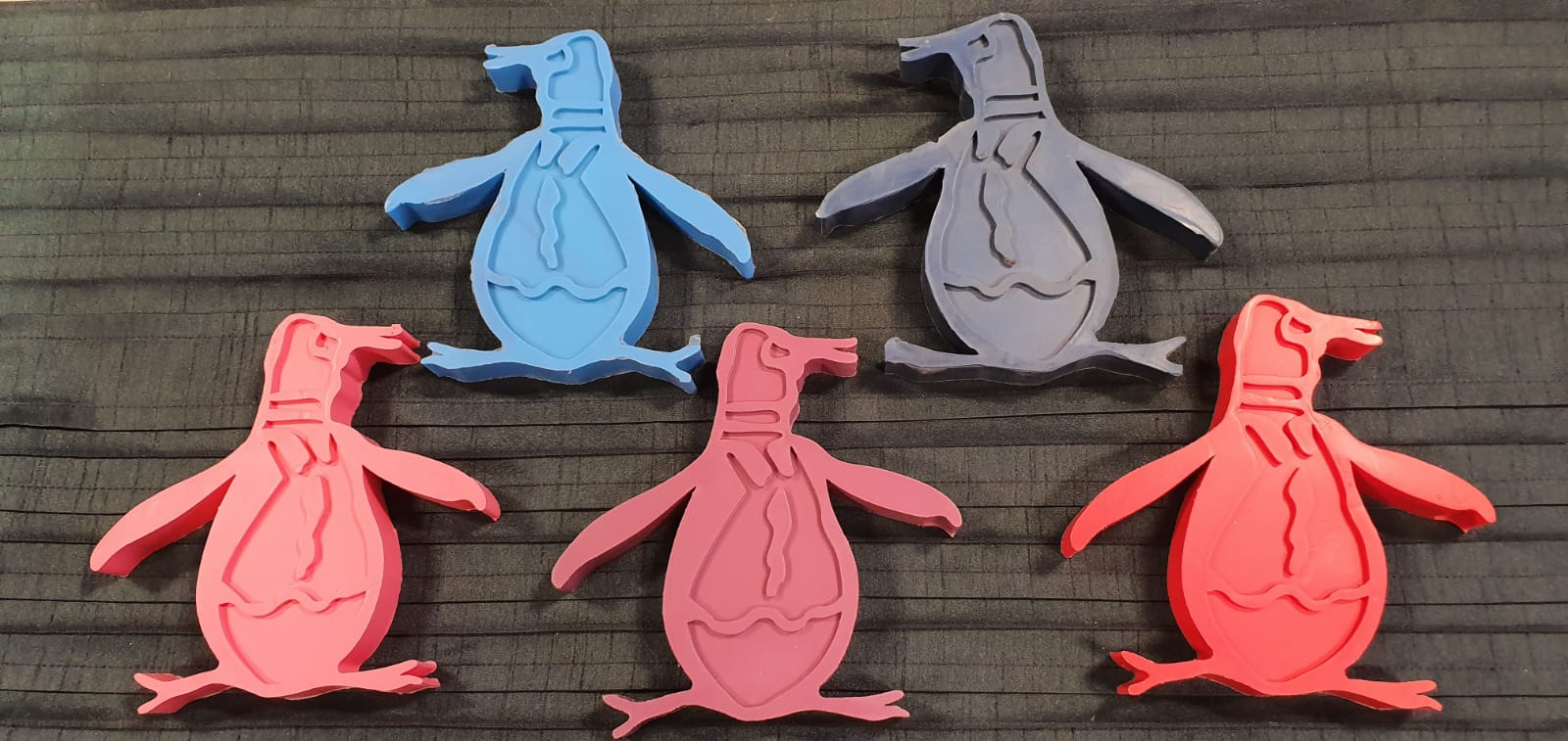 Penguin Clothes rubber mould POS Wye Valley