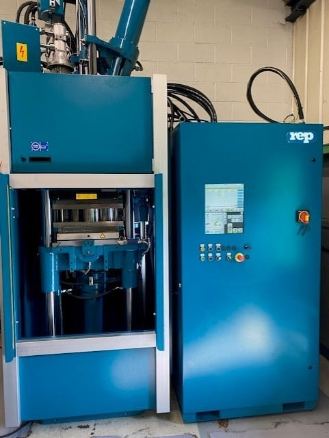 We have just installed a New REP Rubber Injection Moulding Machine.